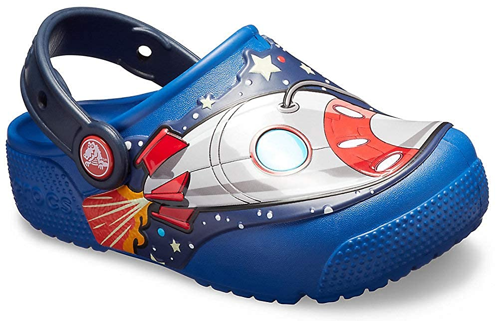 Amazon.com: Crocs Kids Fun Lab Space Explorer Light-up Clog ...