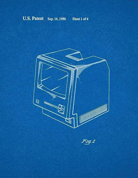 "Apple Personal Computer Patent Print Blueprint (11"" x 14"") M10630"