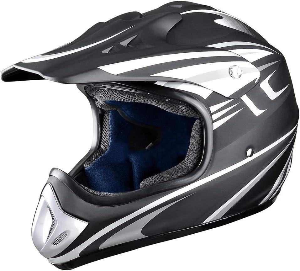 DOT certified scooter ATV helmet off-road helmet goggles, cross-country gloves, mask ,Pink,S Evin Adult MX helmet motocross helmet
