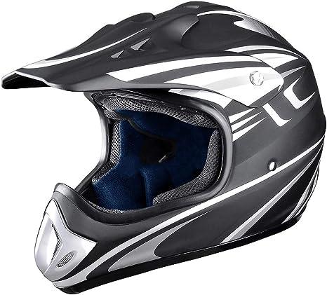 Amazon.com: AHR DOT - Casco de motocicleta de cara completa ...