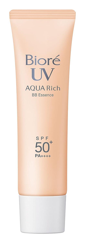 Biore UV Aqua Rich Silky BB Essence SPF 50 + / Pa ++++ 33g 2015 Packaging (Japan Import)