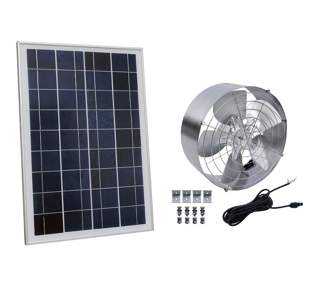 ECO-WORTHY Solar Power Attic Gable Fan with 65-Watt 18-Volt Efficient Brushless DC Motor and 25-Watt 18V Solar Panel