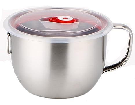 Amazon.com: Emoyi acero inoxidable sopa tazón para pasta a ...
