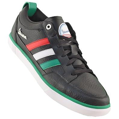 brand new 03712 67905 adidas Originals Vespa PK Low Sneakers Leder Schuhe Freizeitschuhe  Sportschuhe Turnschuhe Freizeitsneakers Retro Italien Männer schwarz