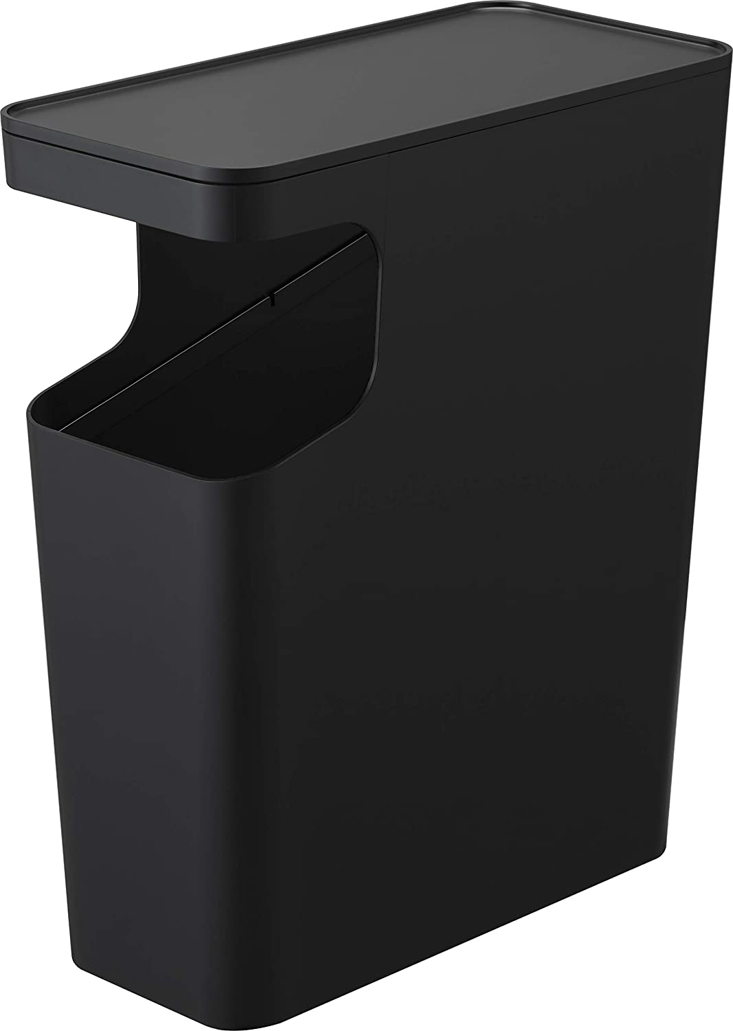 YAMAZAKI home Tower Side table and Trash can Black