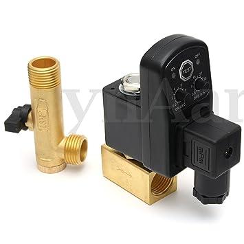 """AC 110 V 1/2 """"2 Vías electronictimed Compresor De Aire Tanque automática"""
