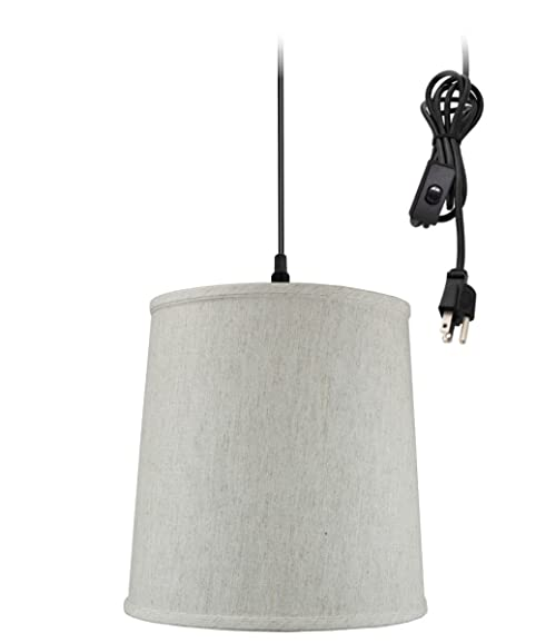 plug in pendant light by home concept hanging swag lamp textured rh amazon com Modern Swag Lamps Swag Chain Lamps