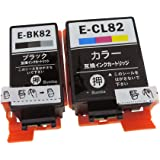EPSON(エプソン)IC4CL82(ICBK82/ICCL82) 4色セット Bumba製互換インクカートリッジ ICチップ付き 残量表示機能付き 【1年商品保証】IC4CL82-4色