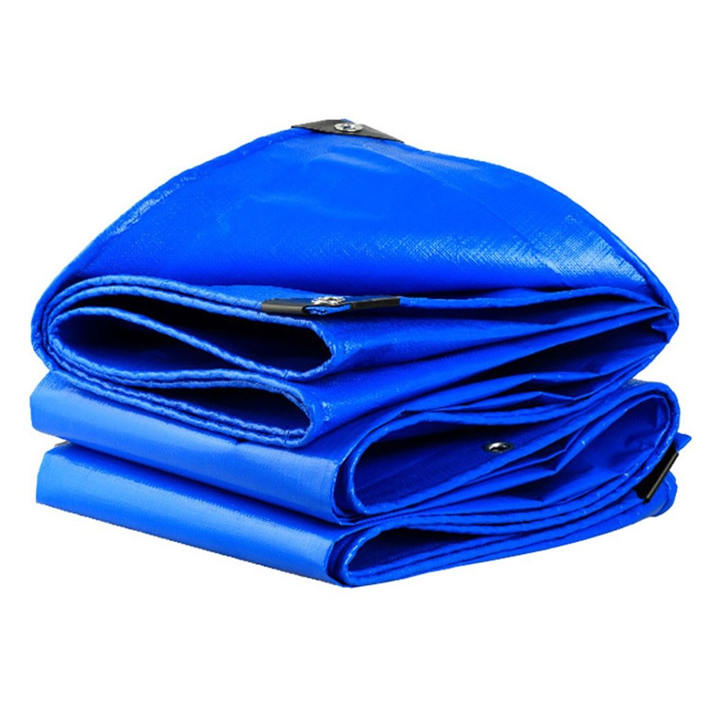 Super Kh® ターポリン、防水屋外キャンプターポリン床カバー断熱日焼け止め - 青-0.35mm-180g/㎡ (サイズ さいず : 5X8M) 5X8M  B07H96TGJ5