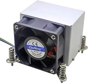 2U Server CPU Cooler Copper Base+Copper fin for Intel LGA 1150 1151 1155 1156 i3 i5 i7 Workstation Industrial Computer Active Cooling