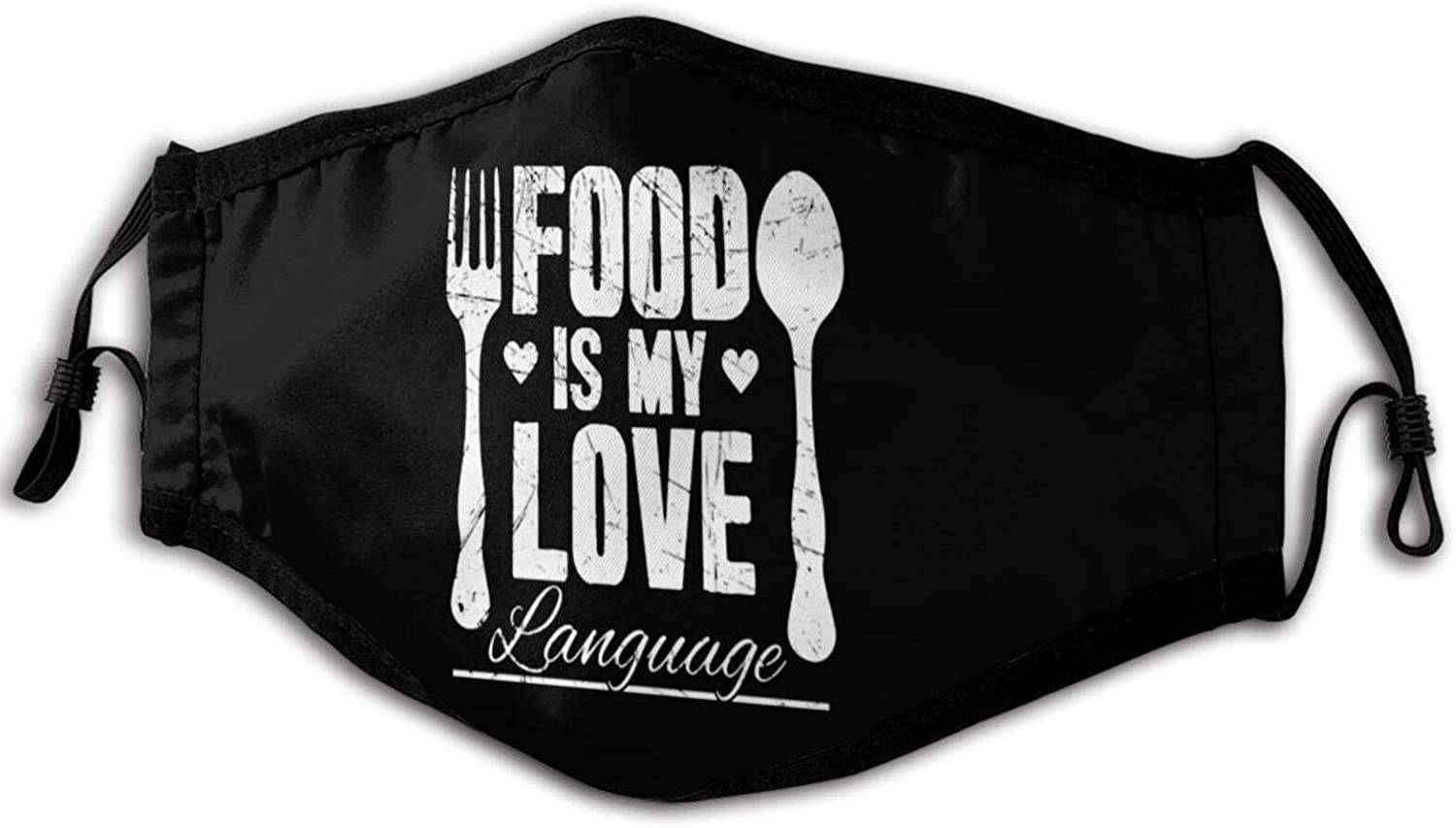 Food is My Love Language Chef 3d Printing Unisex Face Cover Protect Breathable Soft Comfortable Dustproof Reusable