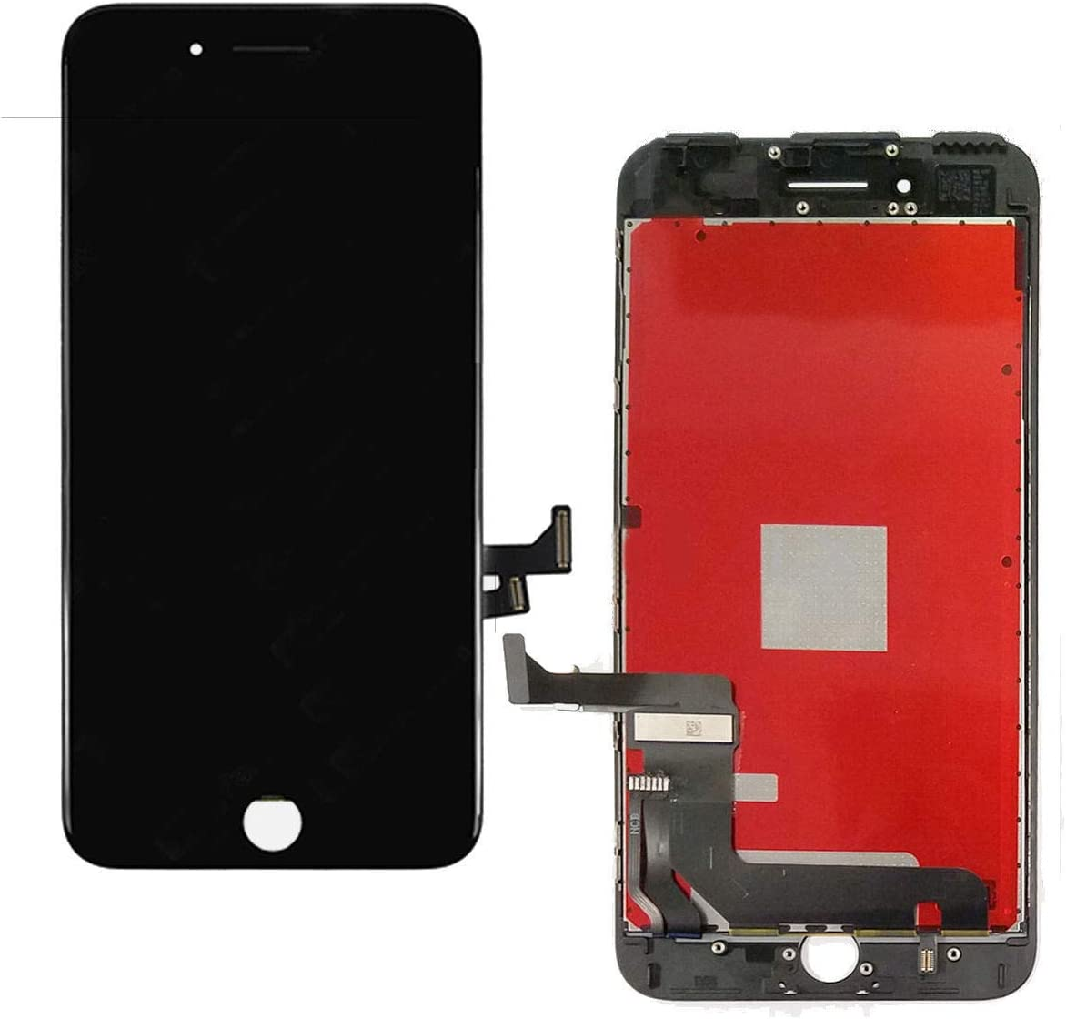 ZTR Replace LCD Glass Screen Fits iPhone 7 Plus 5.5 inch Digitizer Assembly Full Complete Frame Set Display Replacement (Black)