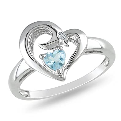 9c525e180 Buy Kiara Sterling Silver Ring made with Swarovski Zirconia # KIR0406 Online  at Low Prices in India | Amazon Jewellery Store - Amazon.in
