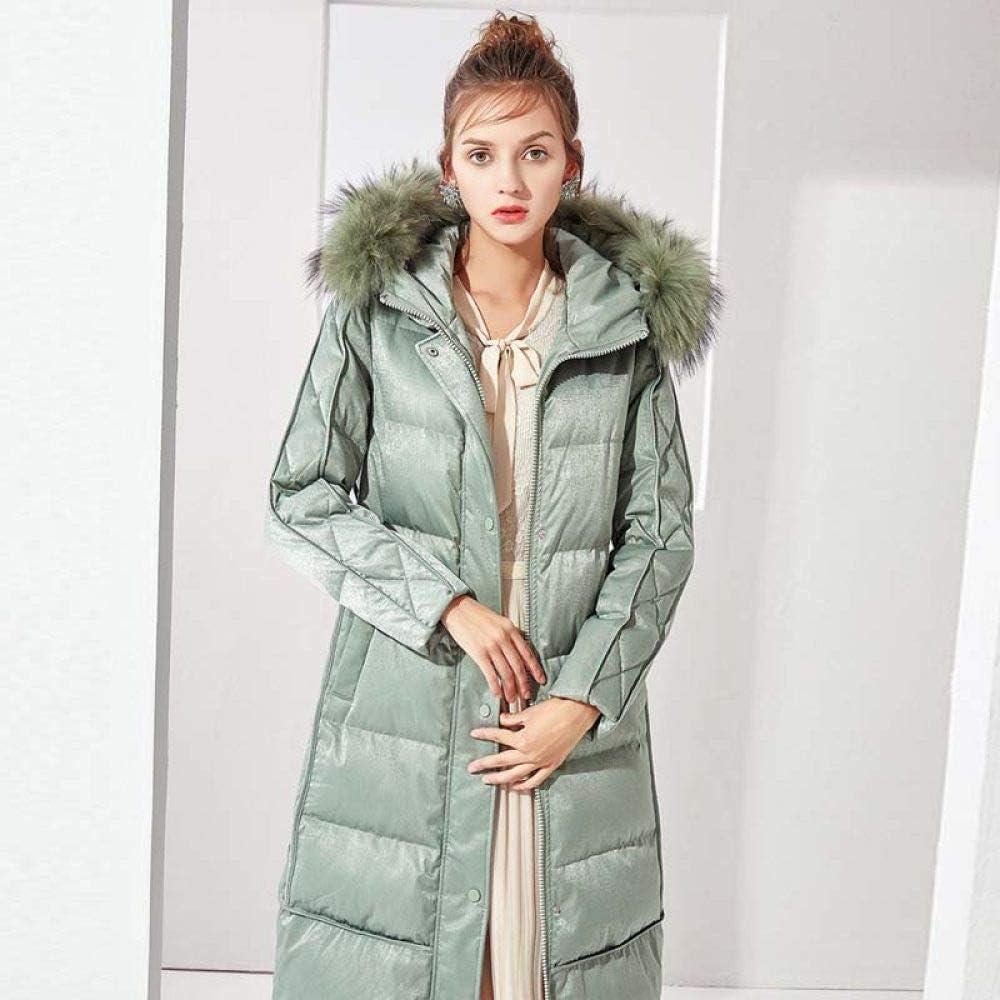 YUFUFU Giù Vestiti Piumino da Donna Invernale con Cappuccio Sciolto Piumino Femminile Spesso Cappotto Caldo Caldo verde