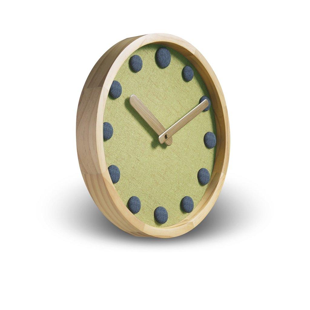 掛け時計 ソリッドウッド12インチの壁時計新しい中国スタイルのアートウォールクロックアート創造的な近代的なミュートのベッドルームの時計の人格 Rollsnownow (色 : グレー) B07C8HL759グレー