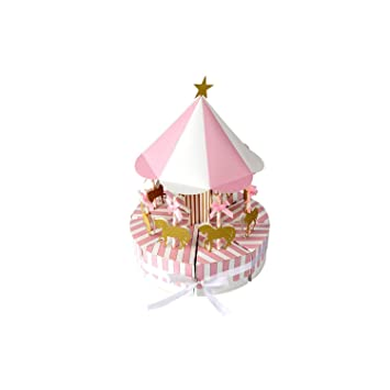 Pink Cup Cake Towel Wedding Favors x 6 pcs