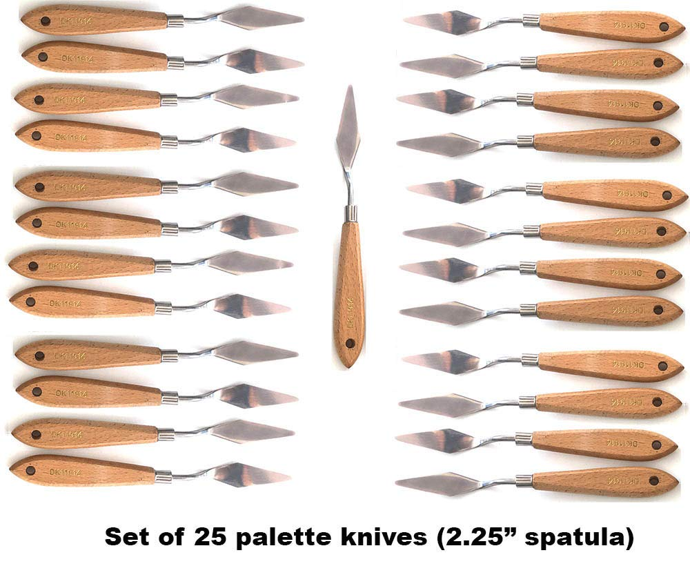 Set of 25 Palette Knives by Art Embraced