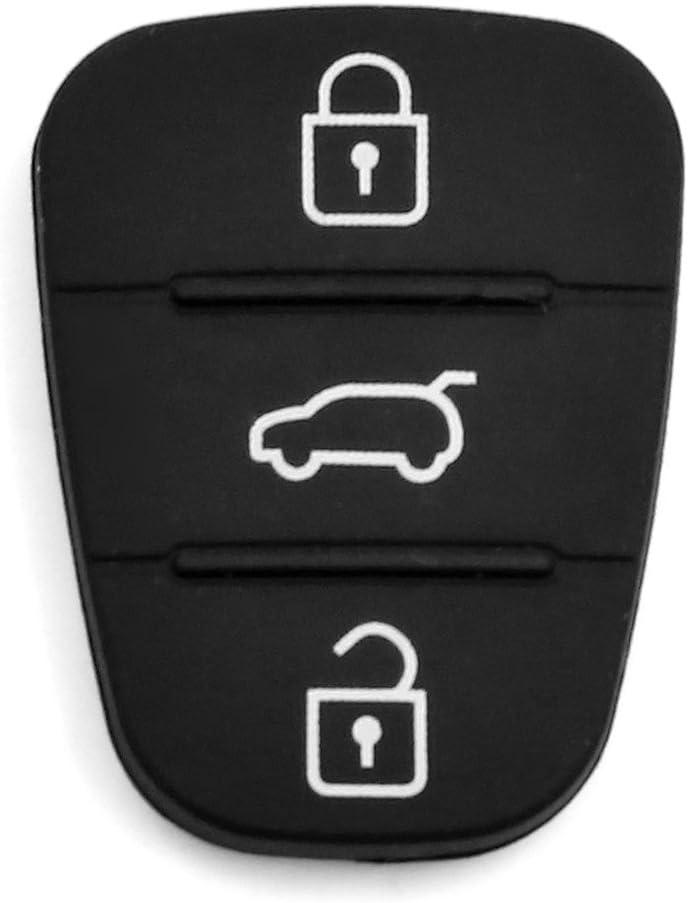 Sourcing Map Sourcing Map Auto Schlüssel Hülle Fernbedienung Gehäuse 3 Tasten Silikon Schutzhülle Schlüsselhülle Funkschlüssel Cover Auto