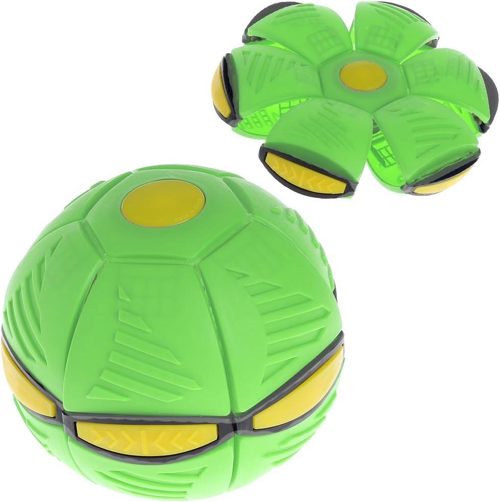 Bola de discoteca UFO con luz LED, juguete para niños al aire libre, jardín o playa.