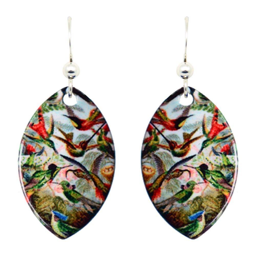 Haeckels Hummingbird Earrings by dears Non-Tarnish Sterling Silver French Hook Ear Wire
