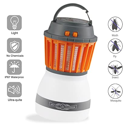 a5df63cb57a DEKIRU Electric Bug Zapper   Camping Lantern 2 in 1 IP67 Waterproof Mosquito  Killer Lamp Electronic