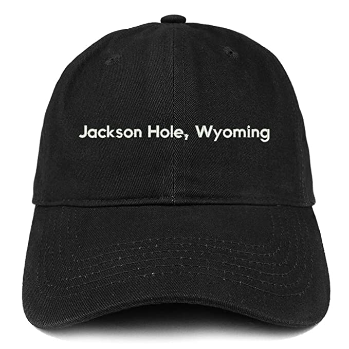 37962cfaf1f0d1 Trendy Apparel Shop Jackson Hole Wyoming Cotton Unstructured Dad Hat - Black