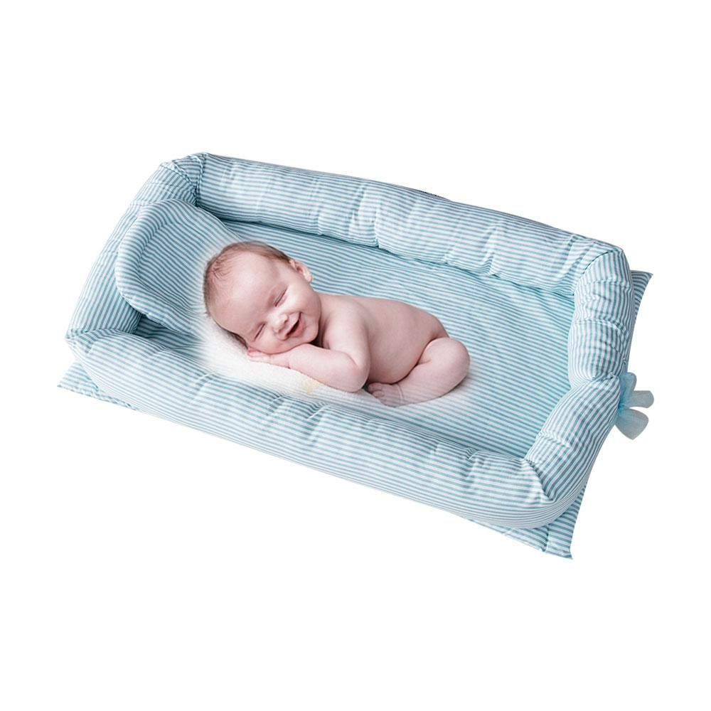 100/% Cotton Nest Newborn Portable Crib AOLVO Snuggle Nest Baby Lounger Breathable and Hypoallergenic Baby Bed Infant Sleeper Newborn Lounger for Bedroom//Travel