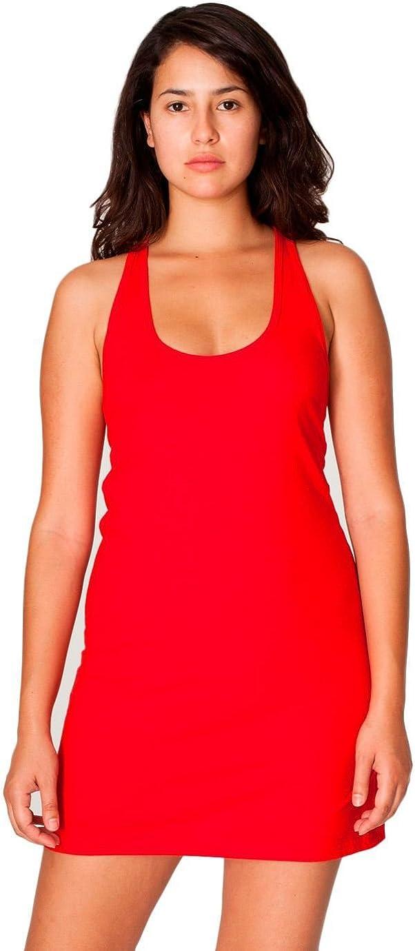 American Apparel Womens Fine Jersey Racerback Tank Dress