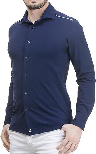 Wave Futura - Camisa de Hombre Montreal: Tejido técnico, no se Plancha y no se Arruga: Amazon.es: Ropa y accesorios