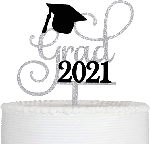 Hair Stylist Congrats Grad Cake Topper Graduation Theme Black Glitter Party Decor Picks for Hair Cutting Class of 2021 Party Decorations Supplies