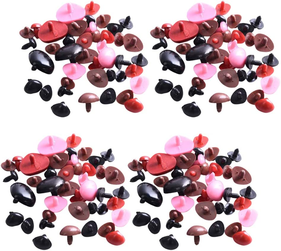 HEALLILY 300PCS Kunststoff Sicherheit Nasen Teddyb/är Nase Dreieck Puppet Angef/üllte Tier Spielzeug Nase Tasten f/ür DIY Pl/üsch Tier Gef/üllte Spielzeug Machen Liefert