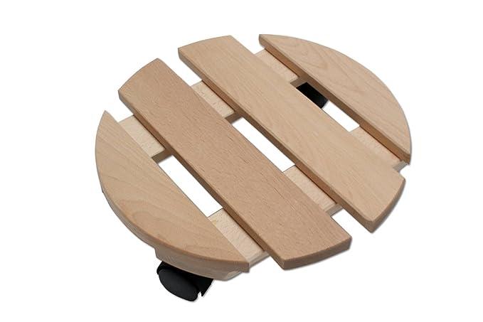 Unbekannt F/ünf Pflanzenroller Holz MASSIV aus stabilem Buchenholz eckig 30 cm x 30 cm bis 120 KG