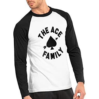 d9b7a76989f Amazon.com: Men's Raglan Shirt ACE Family Retro Style Long Sleeve ...