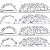 eBoot 24 Pack Plastic Protractors Clear Math Protractor 180 Degrees