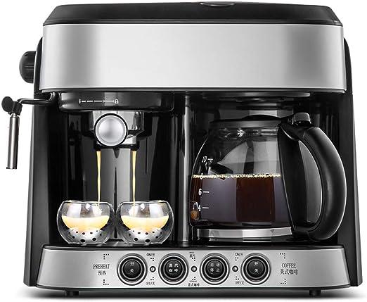 006 DOOST Cafetera de 12 Tazas, cafetera de Goteo programable de Acero Inoxidable, filtros para el hogar y la Oficina, máquina de Capuchino con máquina de Vapor y Jarra: Amazon.es: Hogar