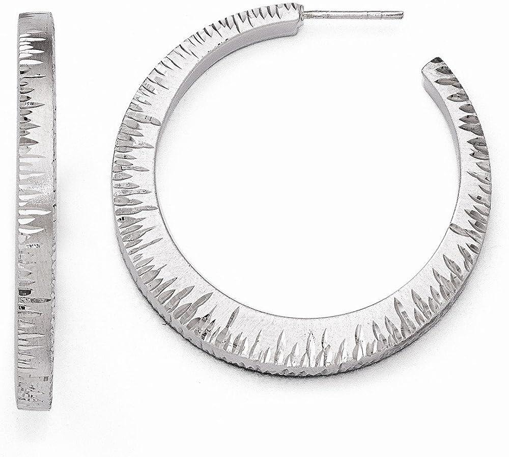 Sterling Silver Radiant Ruthenium D.C Earrings