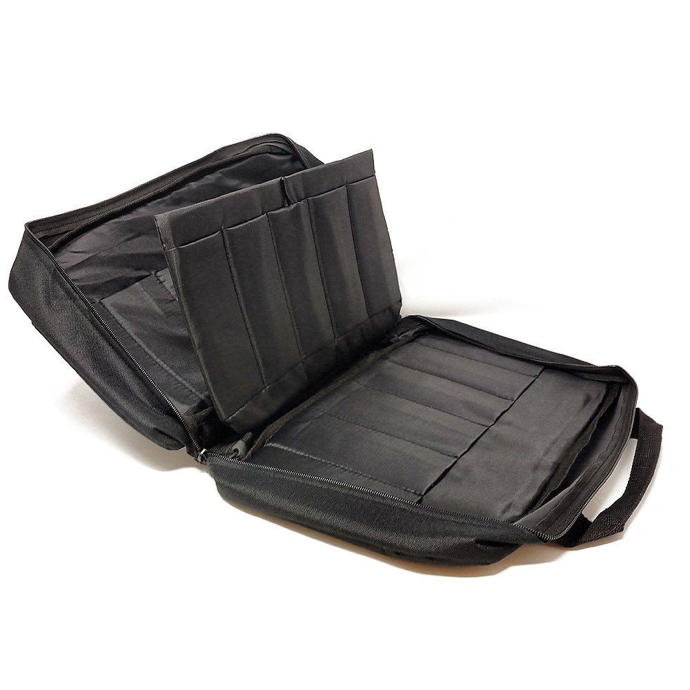 Knife Carrying Storage Case - Quick and Easy Access - Holds up to 22 knives - Soft-side Black Nylon