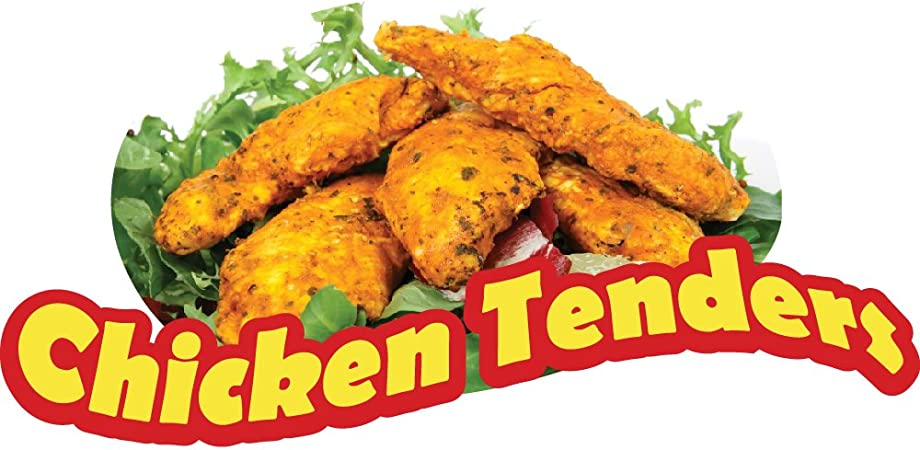 Amazon Com Chicken Tenders Fries 12 Concession Decal Sign Cart Trailer Stand Sticker Equipment Office Products