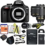 Nikon D3400 24.2 MP Digital SLR Camera (18-55mm & 70-300mm, Certified Refurbished)