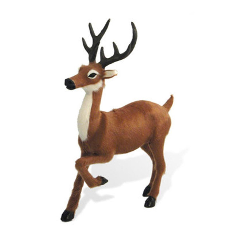 The Carolers 8'' Life-Like Standing Reindeer Table Top Animal Christmas Figure