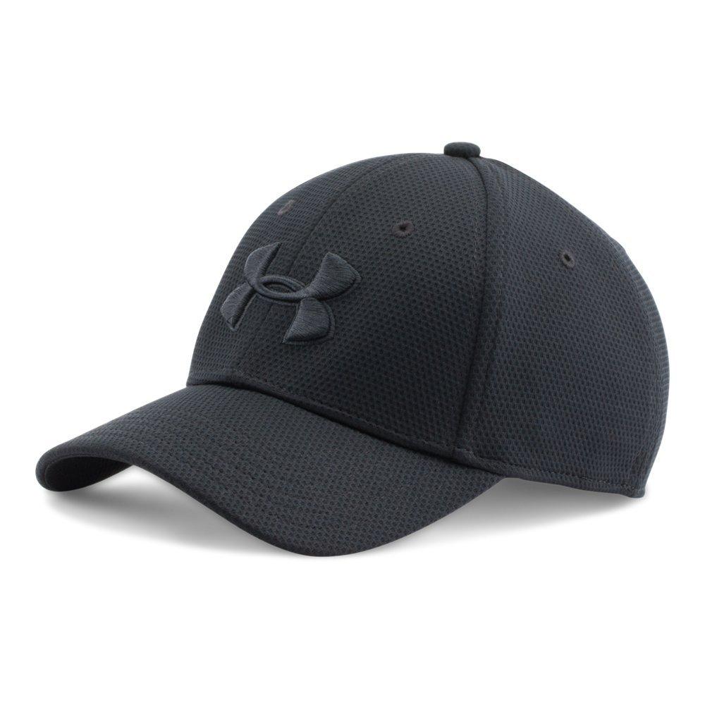 Under Armour Men's Blitzing II Stretch Fit Cap, Black/Black, Large/X-Large