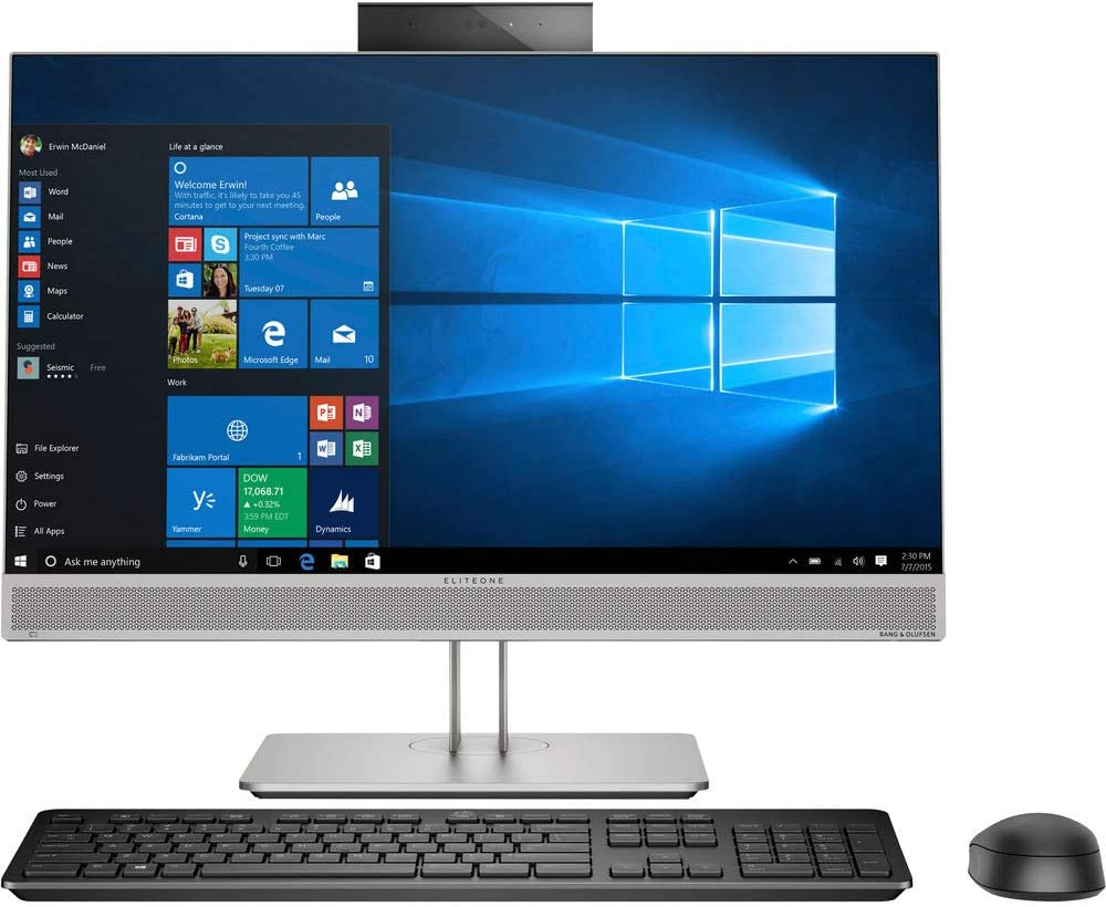 "HP EliteOne 800 G5 Multi-Touch All-in-One Desktop Computer - 23.8"" FHD IPS Touchscreen - 3.0 GHz Intel Core i5-9500 Six-Core - 256GB SSD - 16GB - Windows 10 pro"