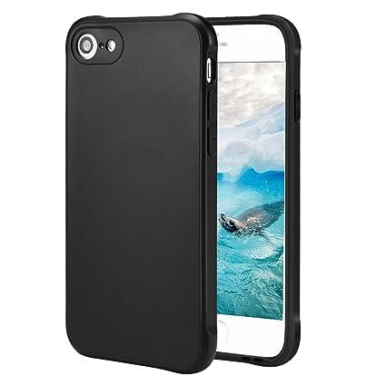 Funda para iPhone 8 iPhone 7,Carcasa para iPhone 8 iPhone 7,Resistente a Arañazas,Golpes,Función de Conversión de Sonido(Negro)