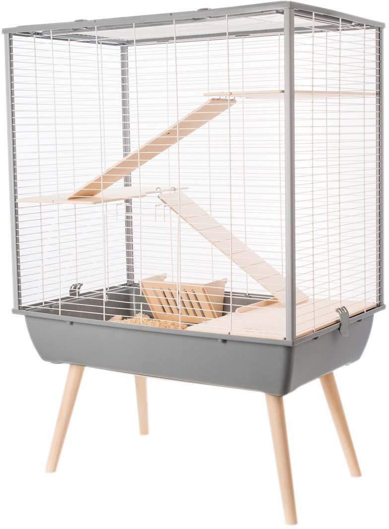 Cage Neo Cosy Grand Rongeur L 77.5 X P 47.5 X H 109 Cm Noire Zolux