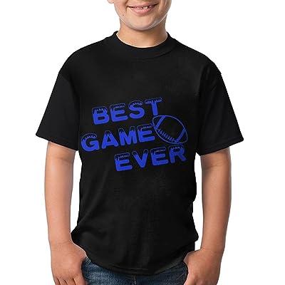 Laur Novelty Youth Tshirt Teen's Short Sleeve Crewneck T-Shirt Football Best Game Ever Tee Shirt