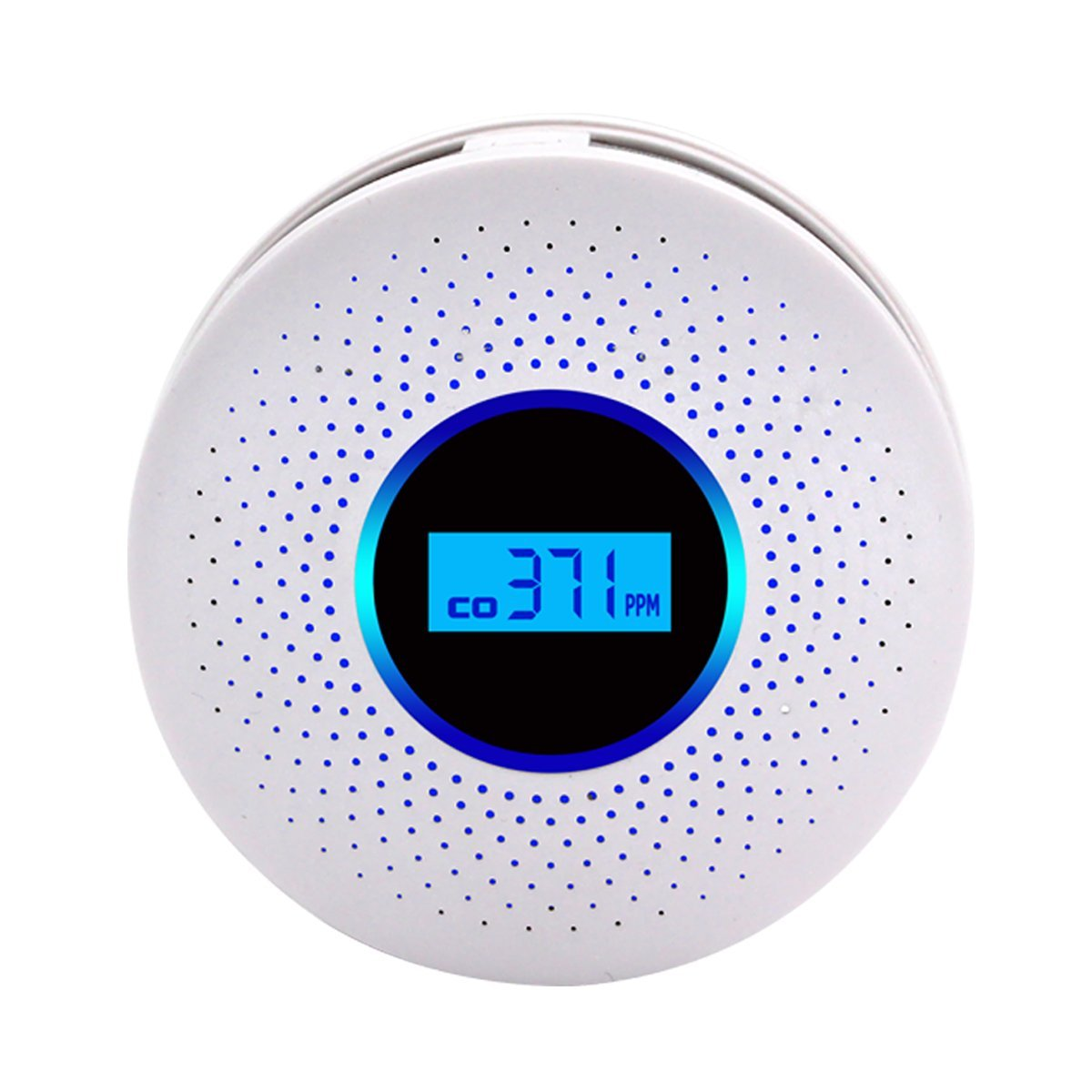 MIXSlight Smoke and Carbon Monoxide Detector Alarm,Battery Operated Carbon Monoxide CO Detector with Sound Warning and Digital Display,White