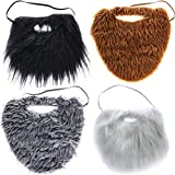 Tigerdoe Fake Beards for Adults Kids - 4 Color Pack - Costume Accessories - Beard & Mustache