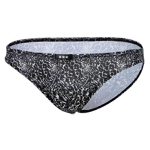 d92f6ec55 Fityle Mens Underwear Lingerie Leopard Printed Briefs Bulge Bikini  Underpants at Amazon Men's Clothing store:
