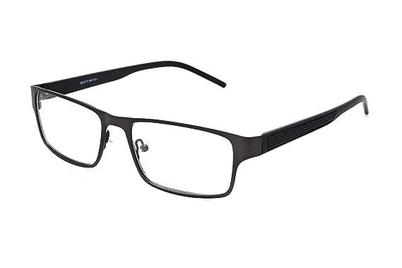 a4421895d1 SmartBuy Collection Emmanuel Unisex Prescription Eyeglass Frames - Full Rim  Rectangular Designer Glasses Frame - Emmanuel Black at Amazon Men s  Clothing ...