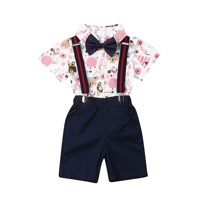 Amazon.com: Trajes de bebé para caballero, camisa de vestir ...